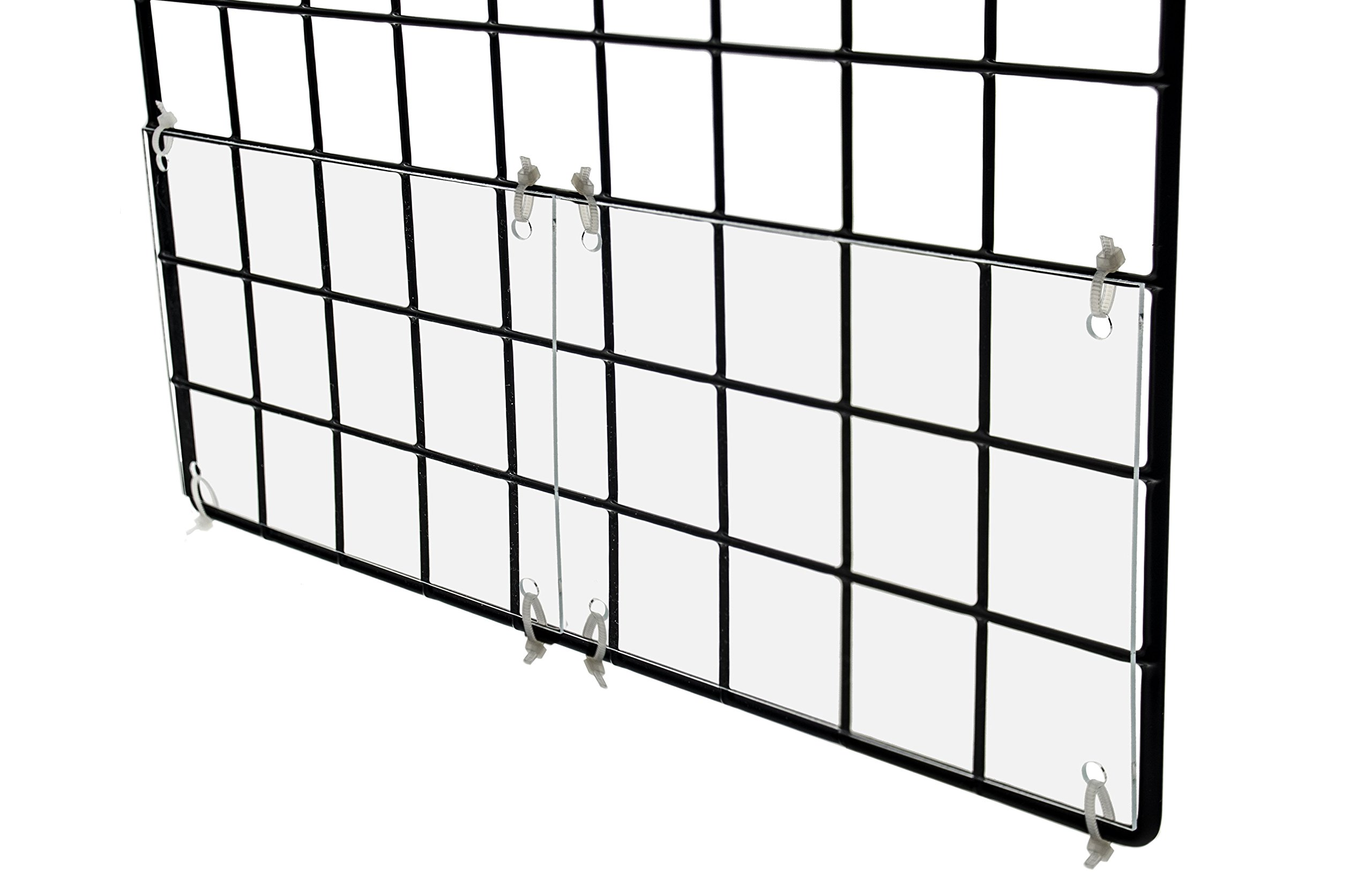 Marketing Holders Clear Acrylic Edge Liner Pet Rabbit & Guinea Pig Cage Urine Guard Side Lining 6''W x 4 1/2''H Pack of 4