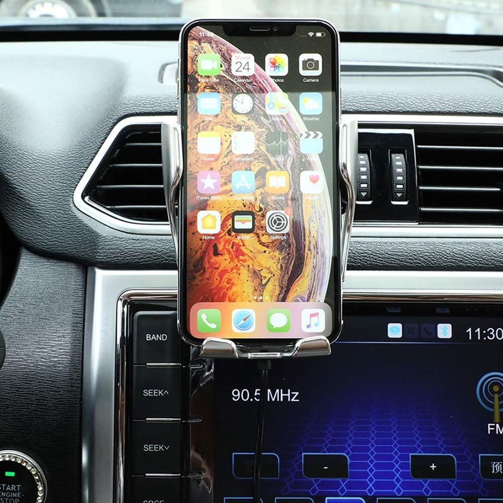 Supporto da auto automatico Qi Wireless R1 sugeryy con caricabatteria a infrarossi senza fili per tutti i dispositivi Qi