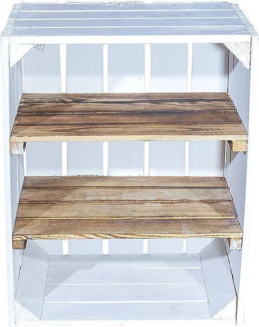 Vintage de Möbel24 GmbH Madera baúl en Color Blanco * * Media – Caja de Madera con