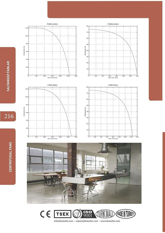 Radial Ventilador Turbo ciclónico Radial Centrífugo Radial Ventilador 230 V 1950 M³ H: Amazon.es: Bricolaje y herramientas