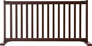 """product image for Dynamic Accents Amish Craftsman Kensington Series 20"""" Tall Free Standing Solid Wood Pet Gates are Handcrafted Large/Mahogany"""