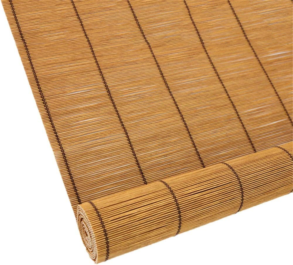 CORTINA Persianas enrollables de Madera - Persianas enrollables for Exteriores Garaje de terraza Gazebo Pergola Patio Porche Cochera -70/80/90/100/110/120/130 / 140cm Ancho: Amazon.es: Deportes y aire libre
