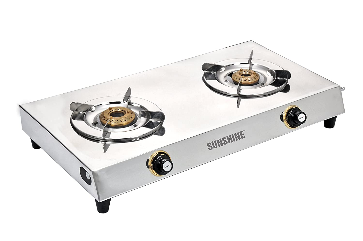 Attractive Buy Sunshine VS 2 Premium Double Burner Stainless Steel Gas Stove Online At  Low Prices In India   Amazon.in