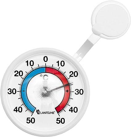 Lantelme Fenster Thermometer Selbsklebend Aus Deutscher Herstellung Außen Analog Fensterthermometer 50 C 4082 Garten