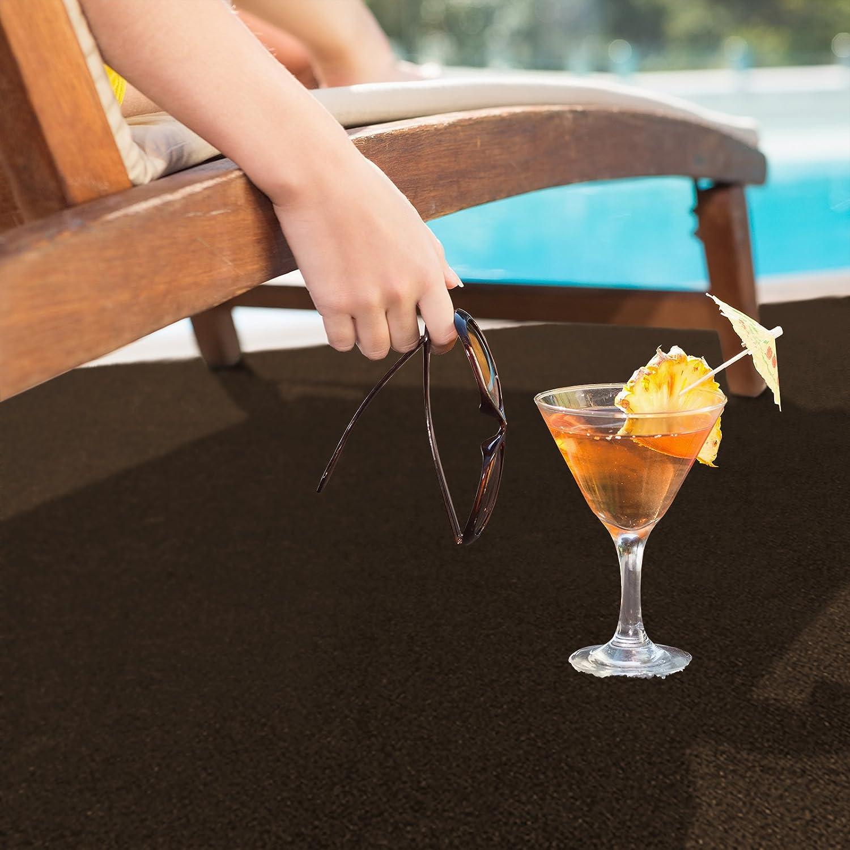 Balkon und Freizeit wetterfest /& schnelltrocknend Meterware Braun, 200x800 cm casa pura/® Komfort Kunstrasen mit Noppen Rasenteppich f/ür Terrasse
