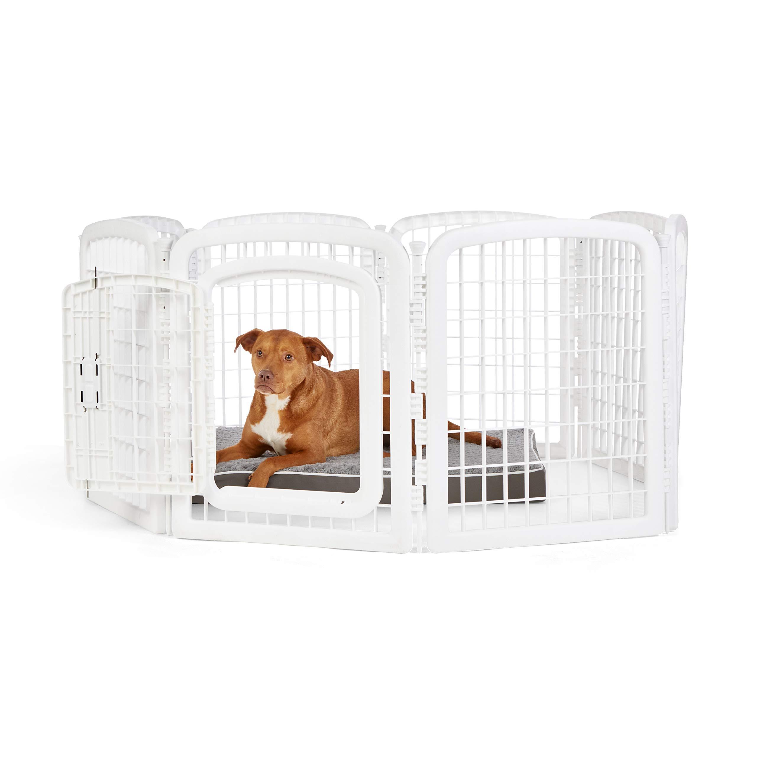 Amazon Basics 8-Panel Plastic Pet Pen Cage Playpen
