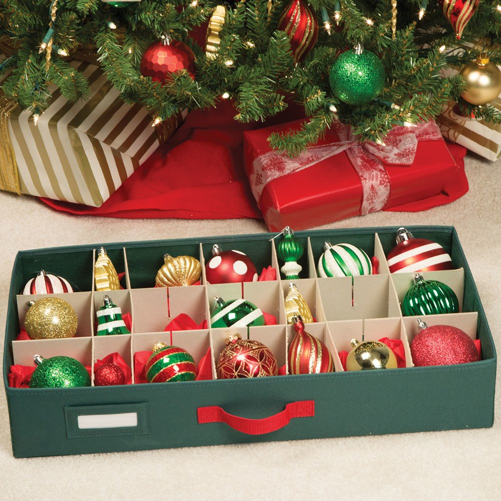 christmas tree 64 bauble decorations storage box brand new by seasons greetings richards homewares