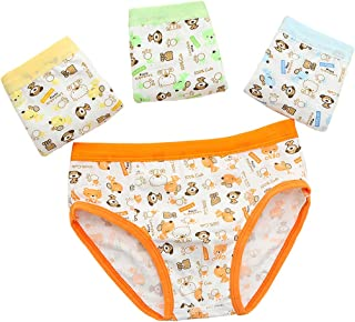4 Pack Little Boy Shorts Cotton Boxer Briefs,Kids Toddler Babies Underwear Underpants Size 2-10 Years, Gift Box Package