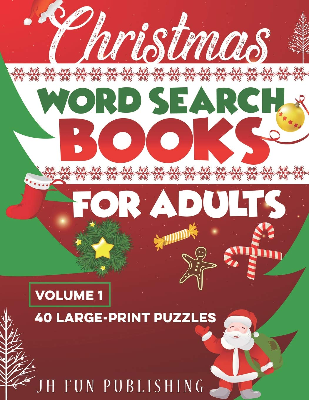 Christmas Word Search Books For Adults 40 Large Print