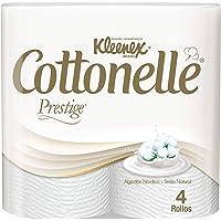 Kleenex Cottonelle Prestige, Papel Higiénico Premium, 4 Rollos de 250 Hojas