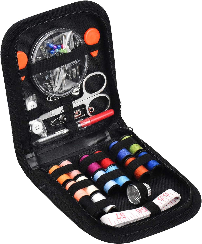 Accessoires de Couture Premium pour Voyager Ruban /à Mesurer Kit de Couture Pratique avec Aiguilles /à Coudre /Épingles /à T/ête etc. Fil Color/é Boutons Ciseaux 69 Kit de Couture avec /Étui