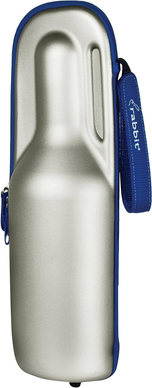 Rabbit Wine Trek Portable Bottle Cooler (Silver and Blue)