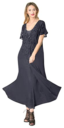 La Leela WomenS Beach Swimwear Bikini Swimsuit Beach Cover Up Casual Dress Navy 26 14 (