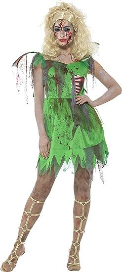 Smiffys Disfraz Zombi: Hada, Verde, con Vestido, Costillas de ...