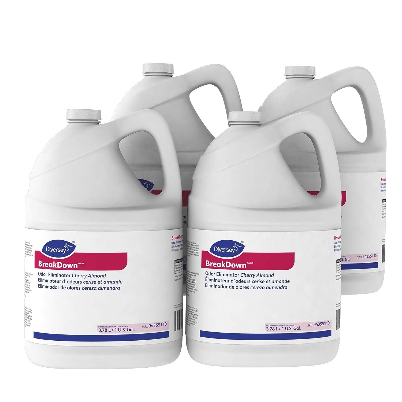 Diversey Breakdown Odor Eliminator Cherry Almond 4X1GL, 1 Gallon, (Pack of 4)