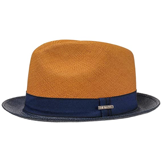 725ae48c8544c2 Stetson Twotone Player Hat Panama 2/3 Men | Made in Ecuador Beach Sun Fedora