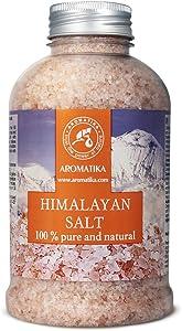 Himalayan Pink Salt 21oz - 100 % Pure and Natural - Salt Himalayan- Best for Good Sleep - Stress Relief - Bath - Beauty - Relaxing - Bath Salts by Aromatika