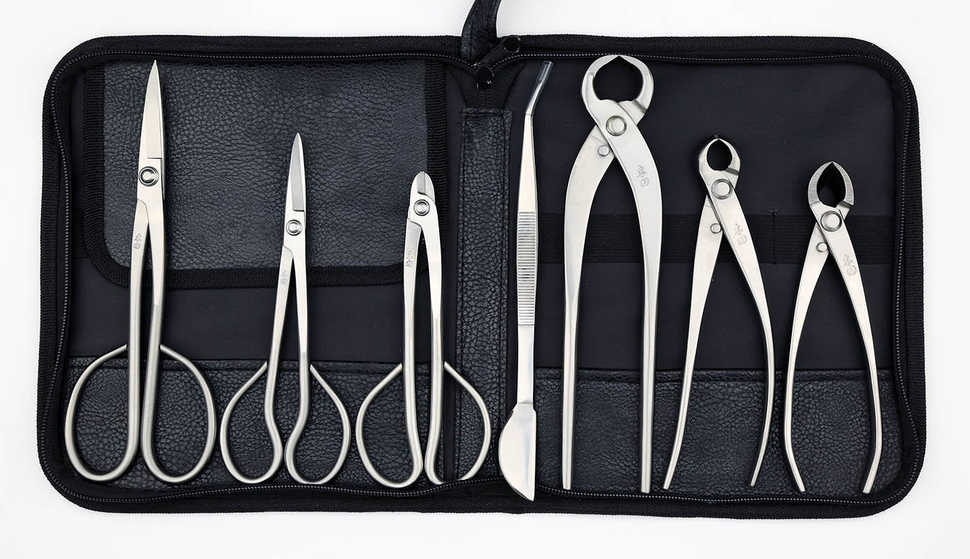 Professional Grade 7 PCS Bonsai tool set (kit) MTBT-03 From TianBonsai