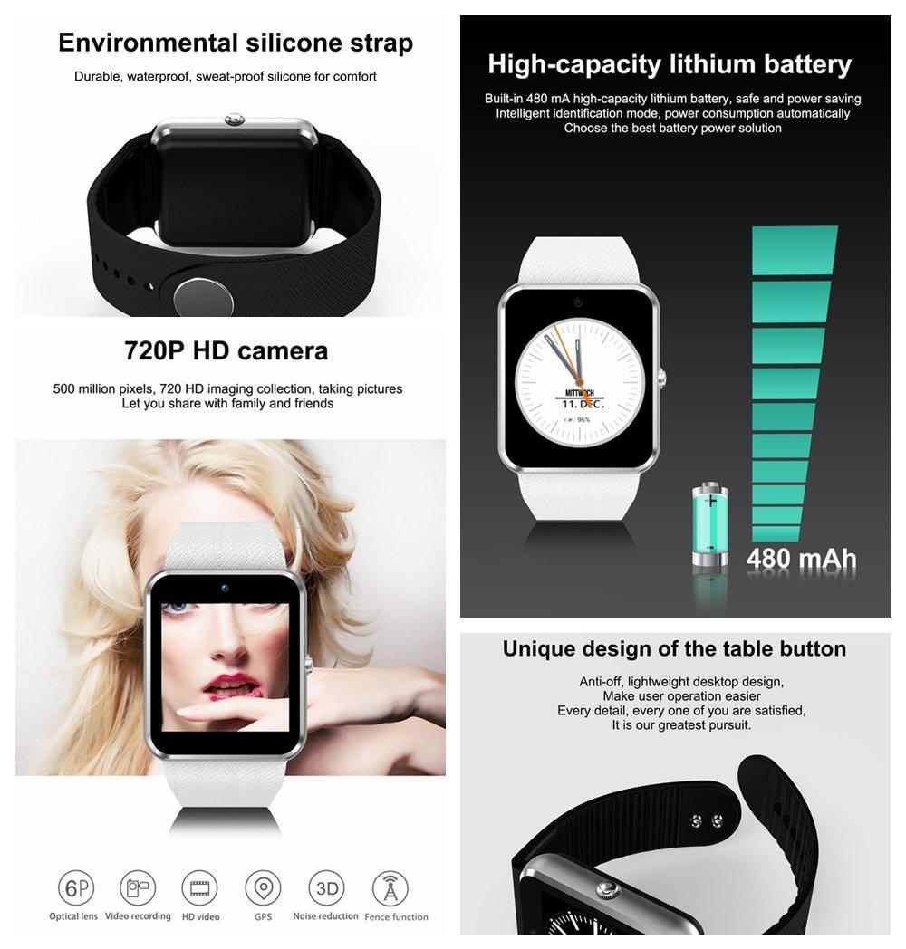 QAR Smart Watch QW09 Llamada 3G Mobile Payment Sistema Android WiFi Fashion Photo Steps Movement Reloj Inteligente (Color : Blanco): Amazon.es: Hogar