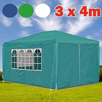 Heavy Duty 3x3 3x6 3x4m FULLY WATERPROOF Gazebo Wedding Party Tent with Sides UK