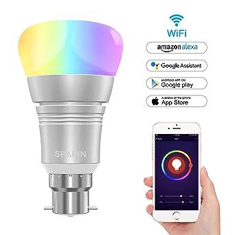 SPARIN Bombilla Inteligente, WI-FI Smart LED Bulb, Bombilla Wifi Alexa, 7W