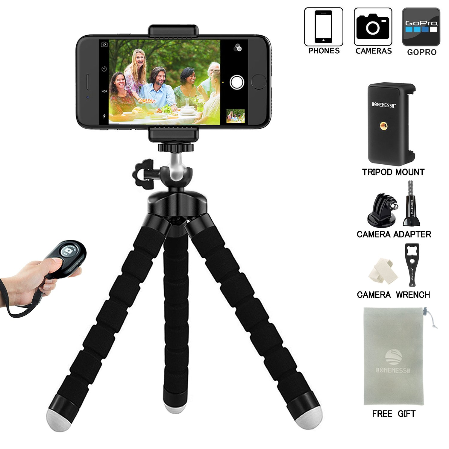 Large Flexible Tripod Stand Gorillapod for Iphone Samsung Android ...