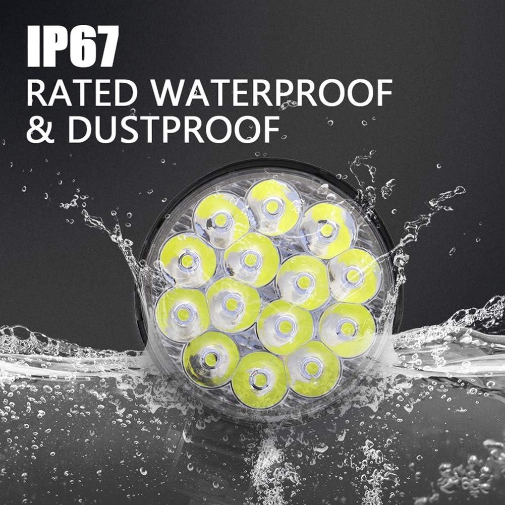 4PCS BESTEU 12V 24V 42W Round LED Work Light 14-LED Light Flood Bulb Driving Lamp Waterproof Work Lights for Car Truck