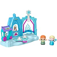 Fisher-Price Disney Frozen Arendelle Winter Wonderland by Little People, ice skating playset with Anna and Elsa figures for toddlers and preschool kids