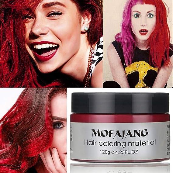 Unisex Multi-Color Tinte Temporal para el cabello Crema Modelado Moda DIY Color de pelo Cera Barro Crema para el cabello Tinte 6 colores