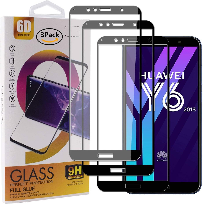 Guran [3 Paquete Protector de Pantalla para Huawei Y6 2018 / Honor ...