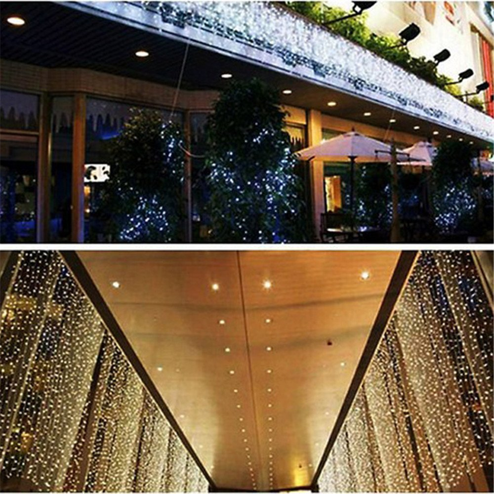 ... Window Curtain Icicle String Lights for Bedroom Indoor 600 Led 6 & Indoor Curtain Lights Uk ? Curtain Design Lajada
