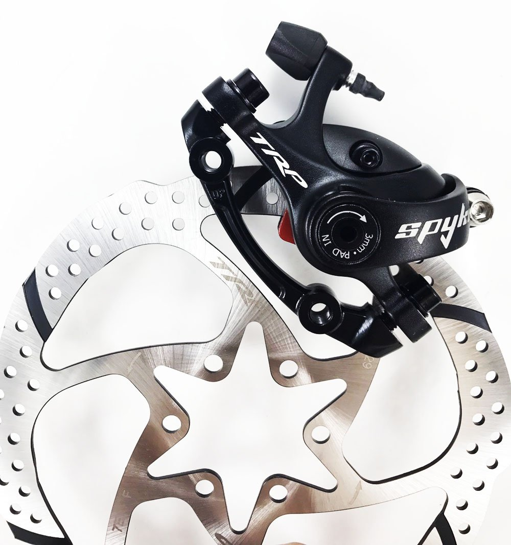 TRP SPYKE Mechanical disc Brake Includes 160mm Rotor Dual Side Actuation MTB Set/Front/Rear