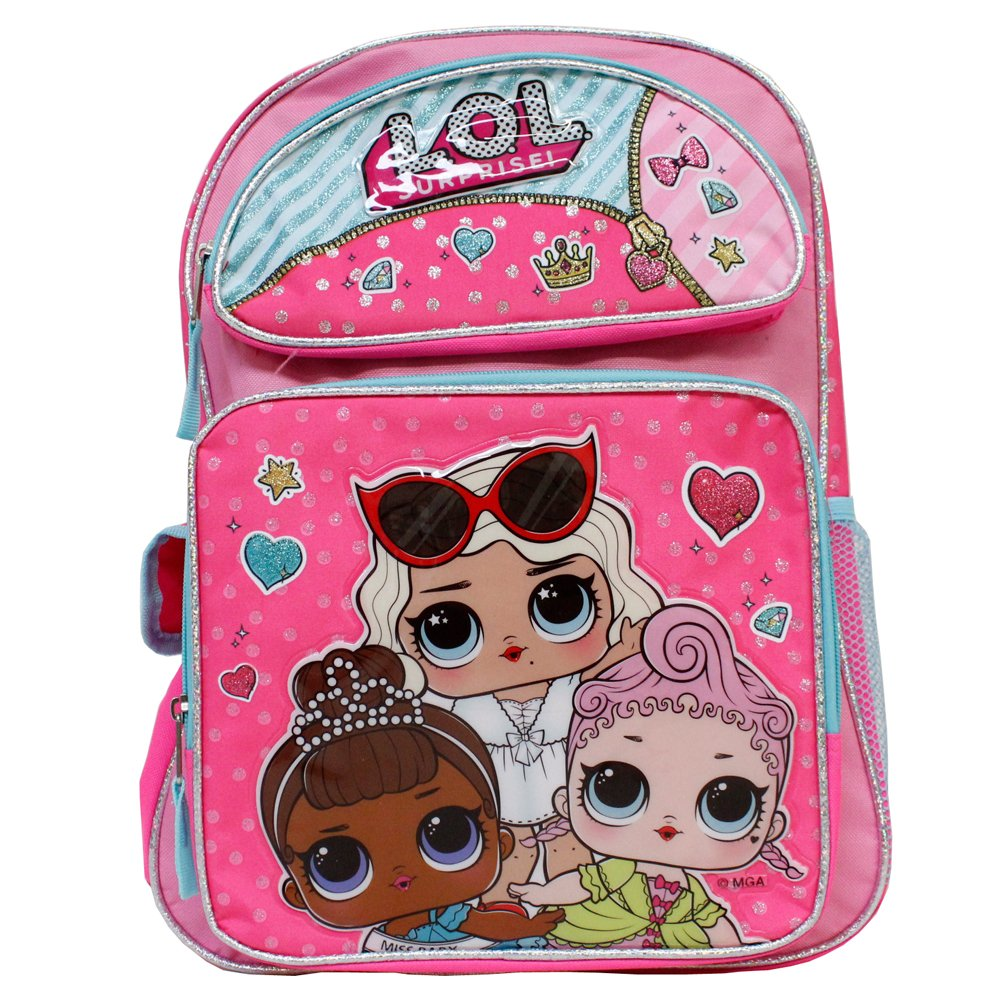 LOL Surprise Hot Pink 16' Backpack Royal Hi Ney Miss Baby Leading Baby