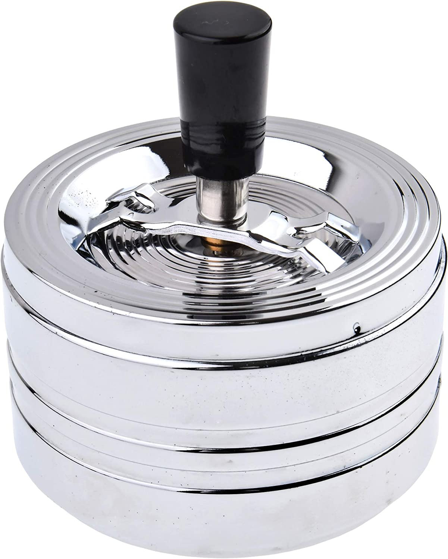 Eleganza Trendy MOD Num3 The Khan Outdoor /& Lifestyle Company Posacenere Rotondo a Prova di Vento//a Pressione in Metallo