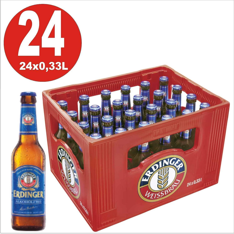 24 x cerveza blanca Erdinger Cerveza sin alcohol de trigo 0,33L Caja original