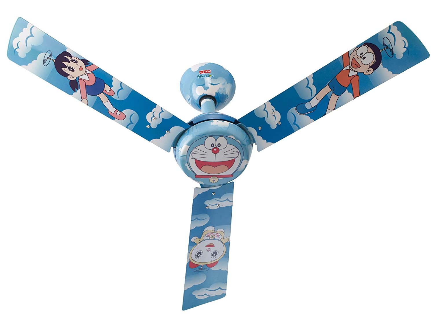 Buy usha doraemon copter 1200mm kids ceiling fan without regulator buy usha doraemon copter 1200mm kids ceiling fan without regulator multi color online at low prices in india amazon audiocablefo
