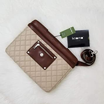 "NEW KNOMO OF LONDON BAYSWATER 13-14/"" SLIM LAPTOP//TABLET SLEEVE PARCHMENT"
