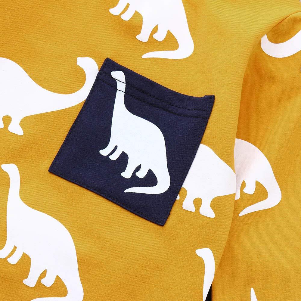 Pantalones Conjunto Manga Larga con Estampado 1-5 A/ños YanHoo Ropa Reci/én Nacidos Traje de oto/ño e Invierno Beb/é de Manga Larga de Dibujos Animados Animal Dinosaurio Imprimir Top