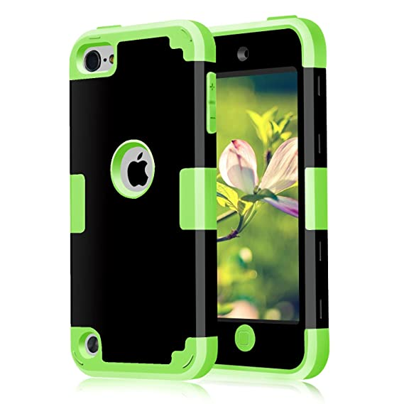 best sneakers 62eda fbc9b CheerShare iPod Touch 7 Case 2019 iPod Touch 7th 6th 5th Generation Case 3  in 1 Hard PC Case Silicone Shockproof Heavy Duty High Impact Armor Hard ...