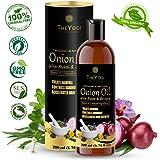 The Yogi Organic Onion Oil for Hair Growth with Bhringraj | Brahmi & 17 Essential oils | hair fall & damage control | Jojoba, Argan, Neem, Shea, Castor, Sunflower, Amla