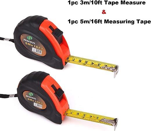 Tape Measure 7.5M//25ft QUALITY TOOL Measurement Lock Mechanism Metre Cm Inch
