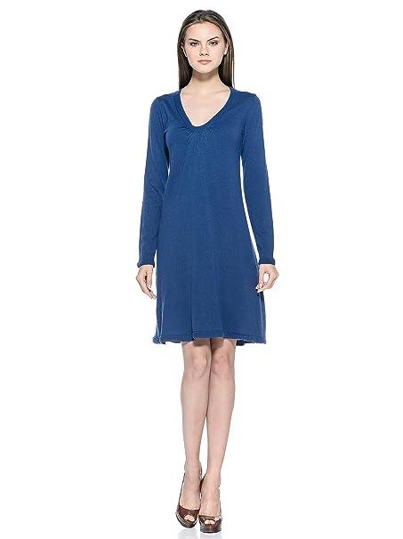 Vestido de azul royal