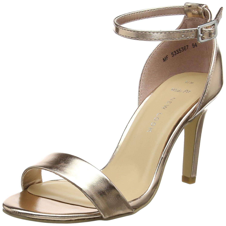 TALLA 41 EU. New Look Sensatory, Zapatos con Tacon y Correa de Tobillo para Mujer