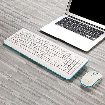 Hunpta - Juego de Teclado y ratón, Mini Teclado inalámbrico de 2,4 G y ratón óptico Combinado, Color Negro para PC de sobremesa: Amazon.es: Electrónica