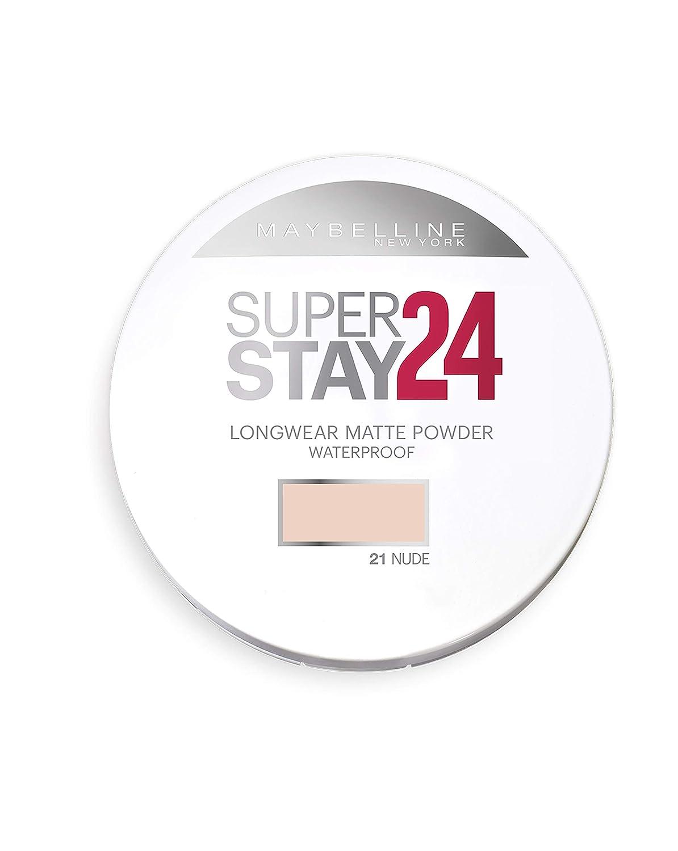 Maybelline Polvos Compactos Superstay 24H (Larga duración), Tono 48 Sun Beige L' Oreal aceites alta base