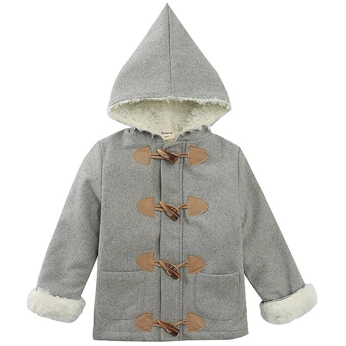 Amazon.com: momoland bebé las niñas chamarra de lana con ...