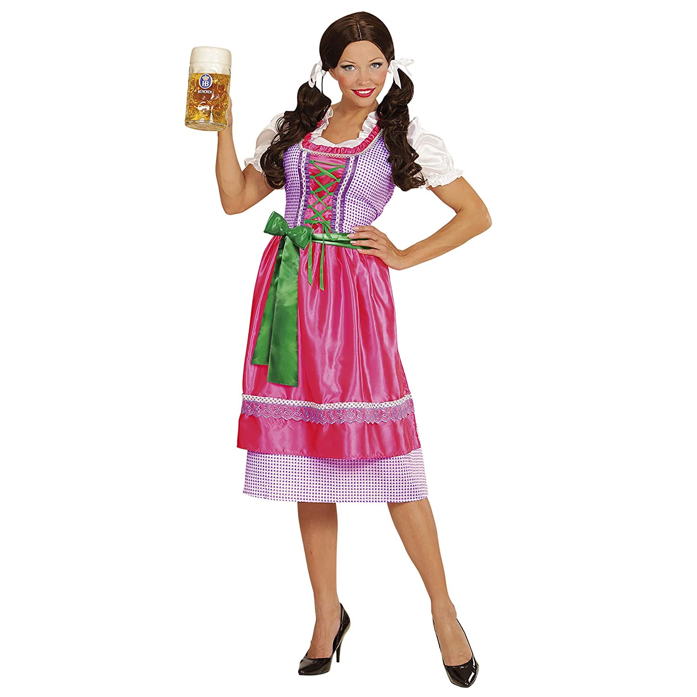 WIDMANN- Disfraz Tirolesa Vestido con Delantal, Color Rosa, L ...