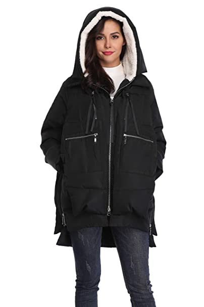 2faf4ccf6ce01e Amazon.com: Shanghai Bund Women's Thickened Down Jacket with Hood Winter  Warm Hooded Parka Coat: Clothing