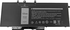 Tinkerpal GJKNX Replacement Laptop Battery for Dell Latitude 5280 5480 5580 5490 5590 E5480 E5580 E5490 E5590 Series Precision 15 3520 Series 0DY9NT GD1JP DY9NT 0GD1JP 5YHR4 451-BBZG 7.6V 68Wh
