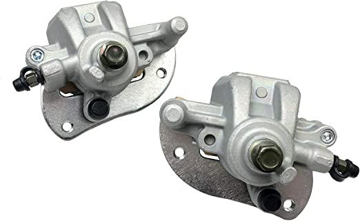 Mati Rear Left /& Right Brake Caliper for ATV Yamaha Grizzly 550 YFM550 2009-2014 Grizzly 700 YFM700 2007-2020 with Pads